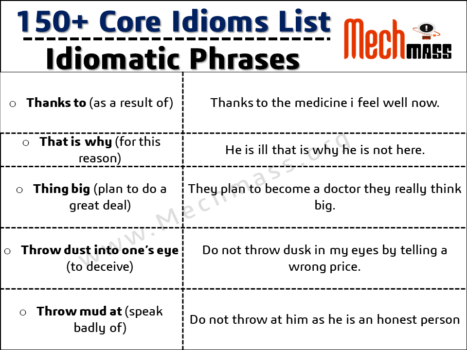 idioms with examples