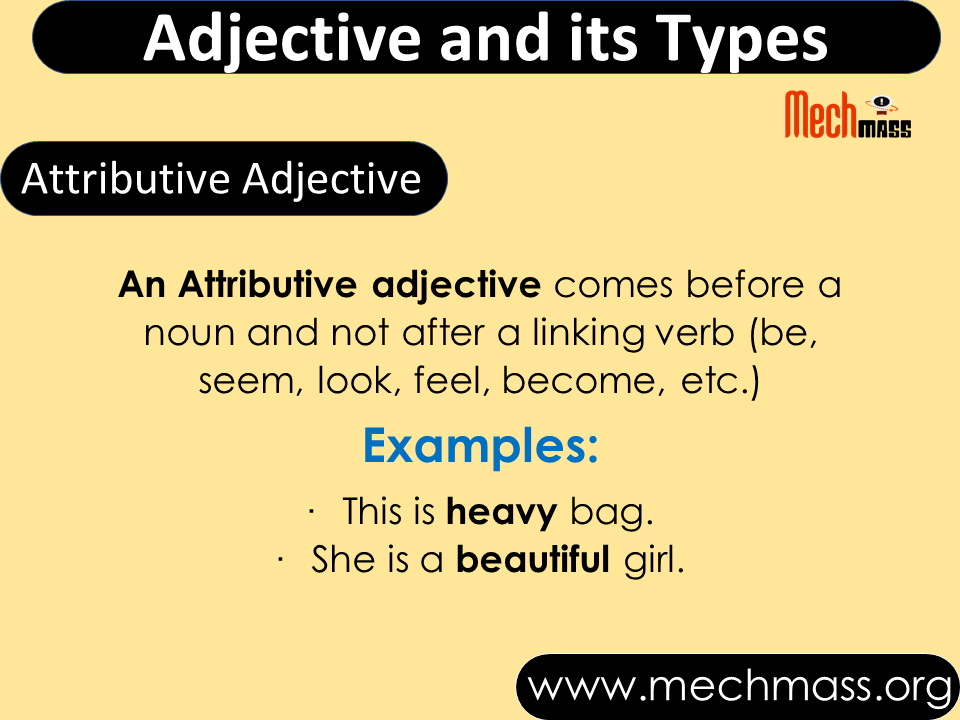 adjectives and its types in english