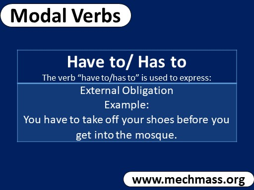 Modal verb has to have to