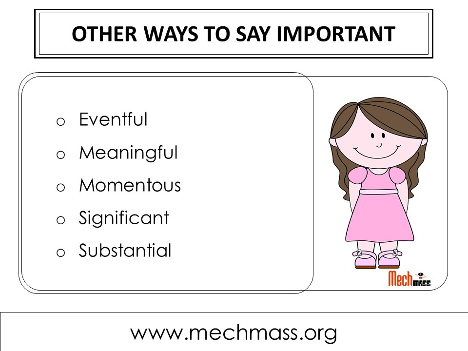 other ways to say Important