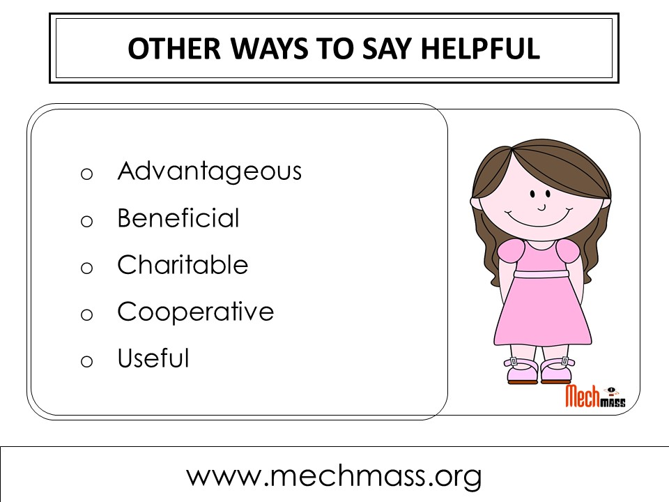 other ways to say helpful