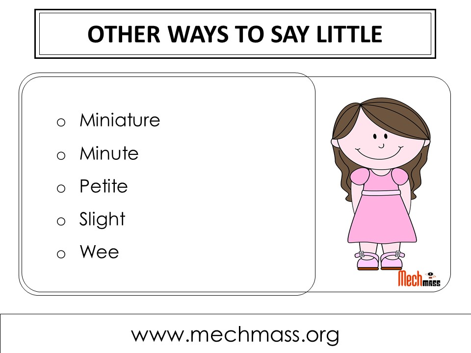 other ways to say little