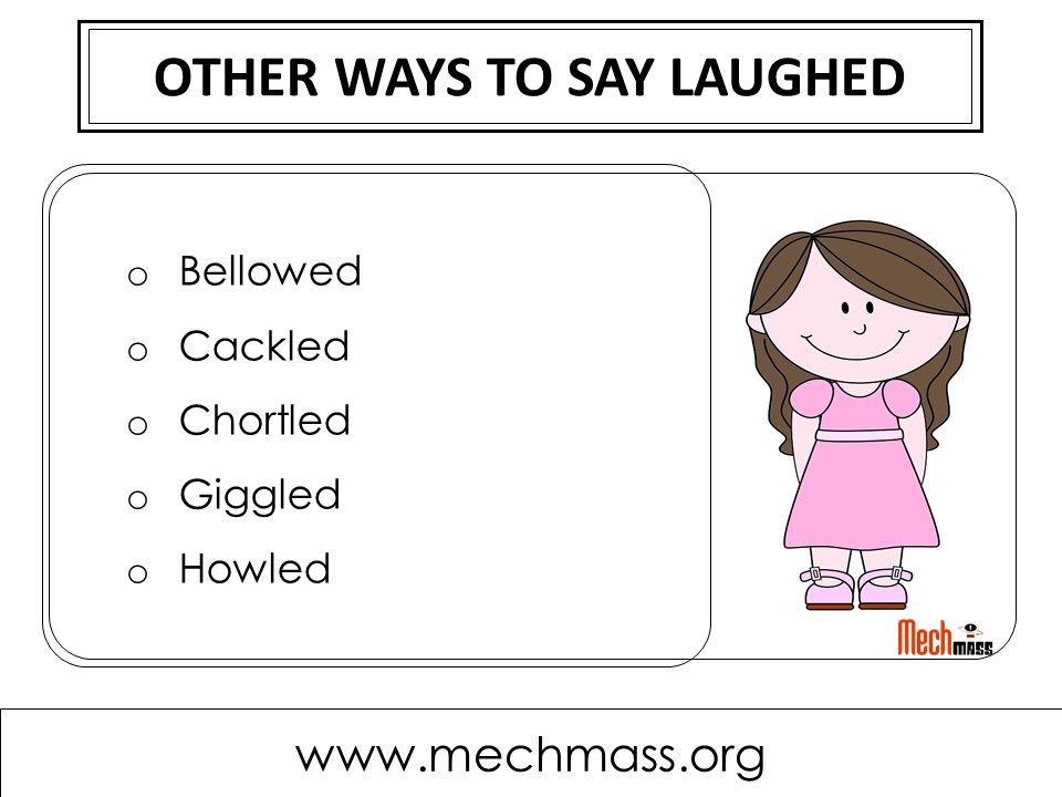 other ways to say laughed