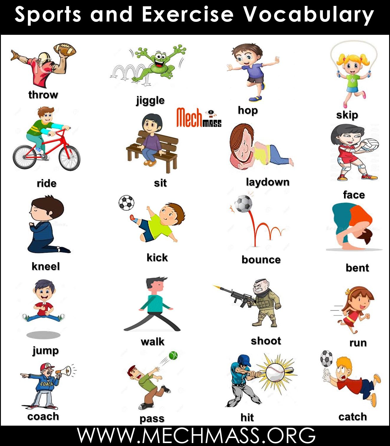 exercise vocabulary words with pictures
