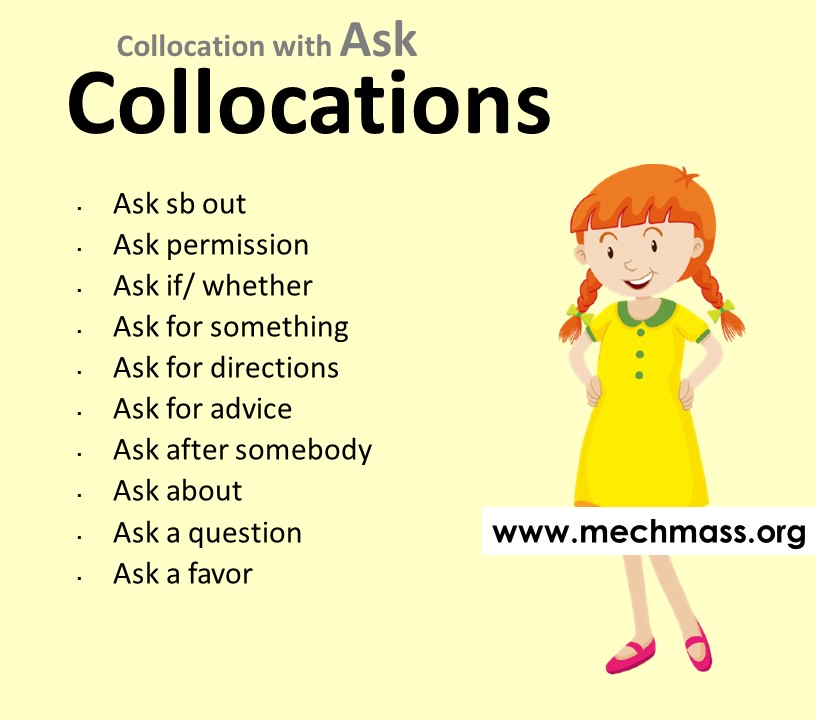 List of collocations with ask