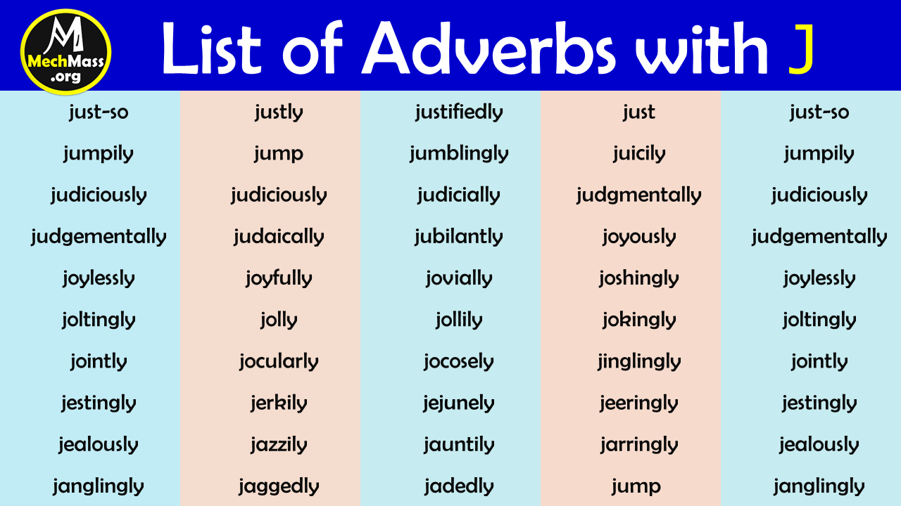 adverbs that start with j