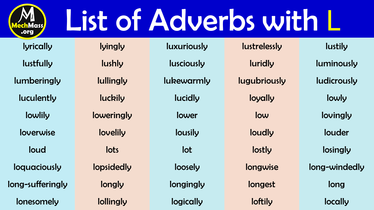 adverbs that start with L