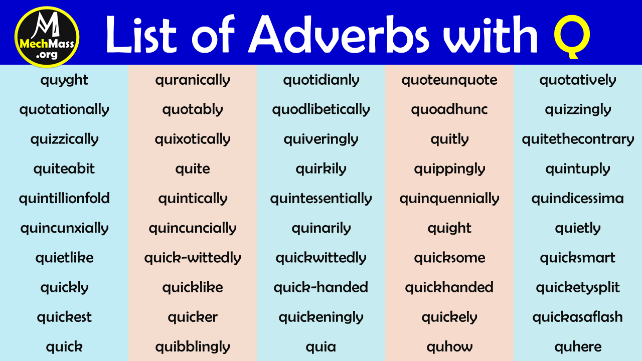 adverbs that start with q