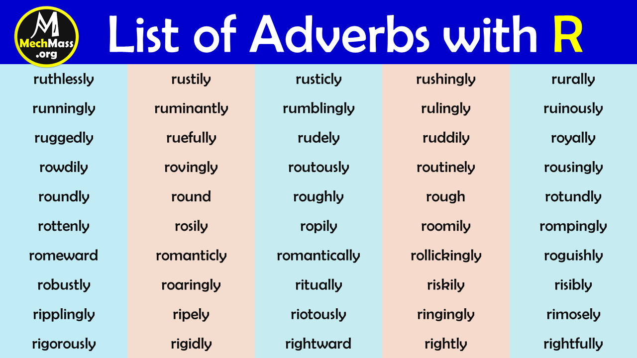 adverbs that start with r