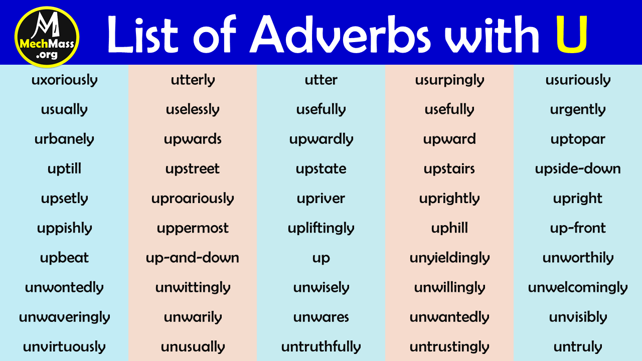 adverbs that start with u to describe a person