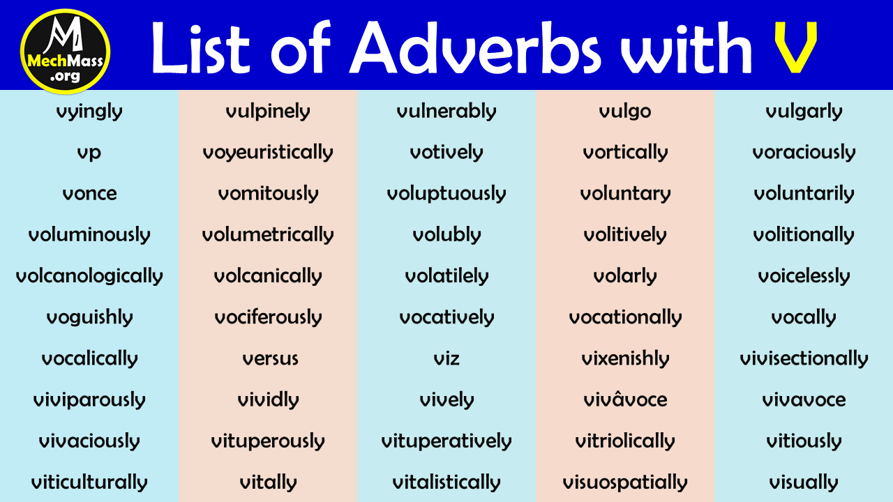 adverbs starting with v
