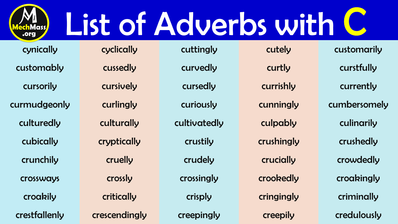 adverbs that start with c