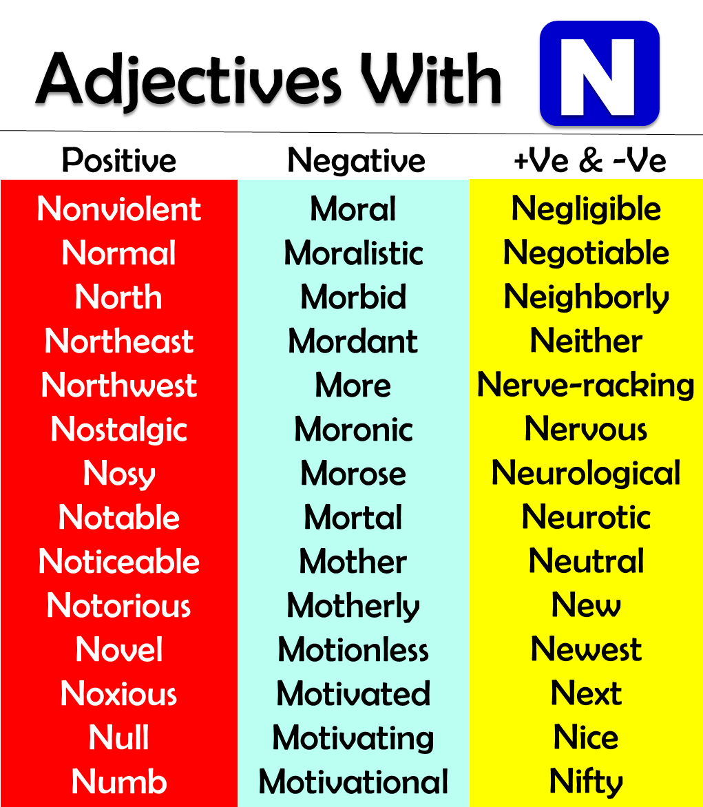 adjectives starting with n