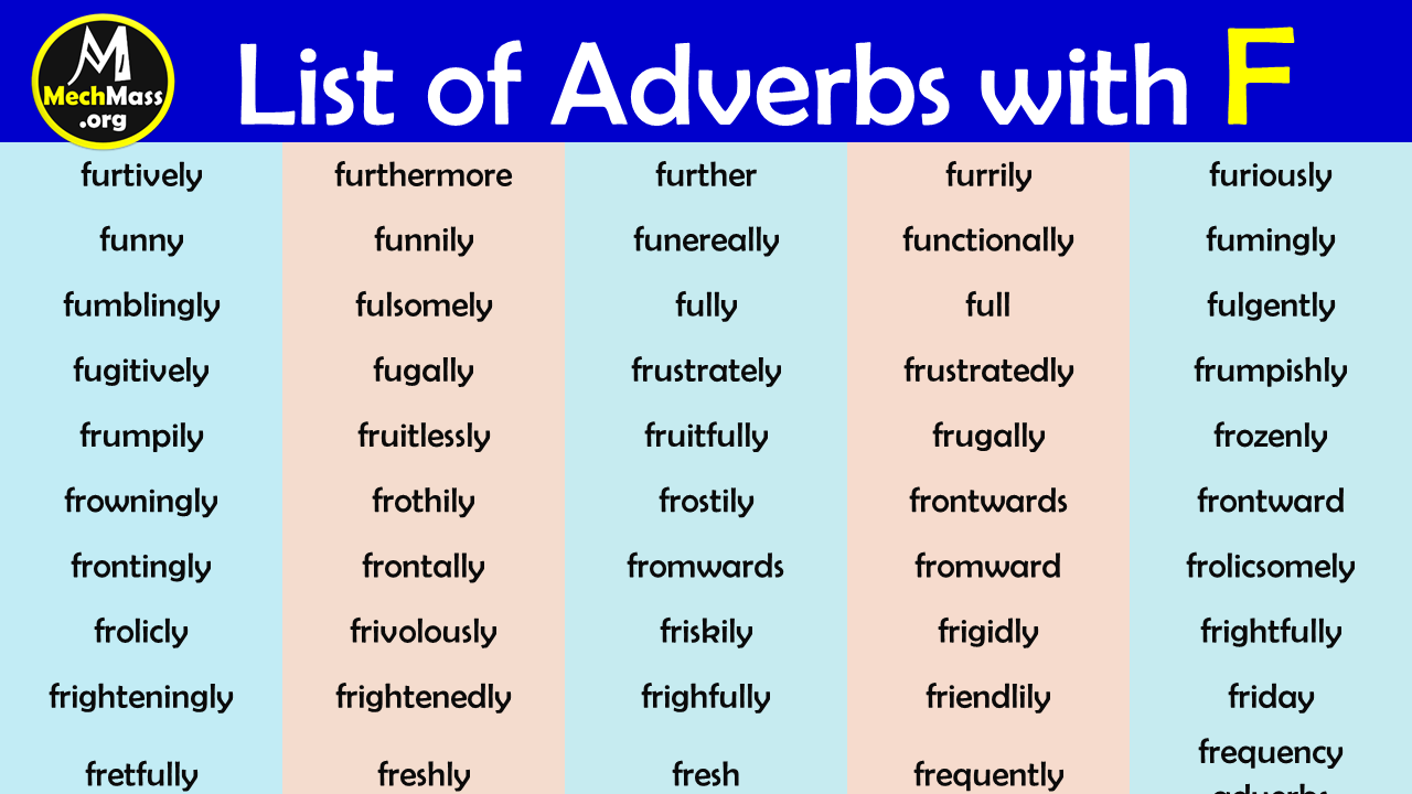 adverbs that start with f
