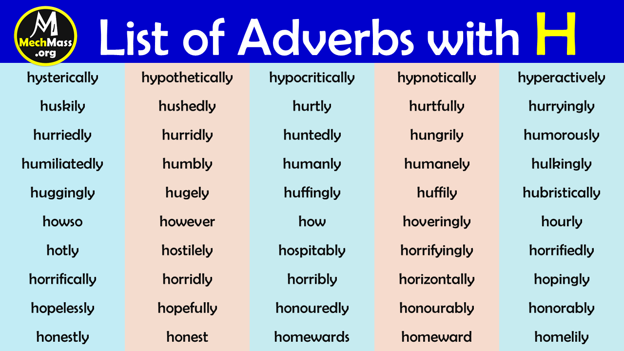 adverbs that start with h