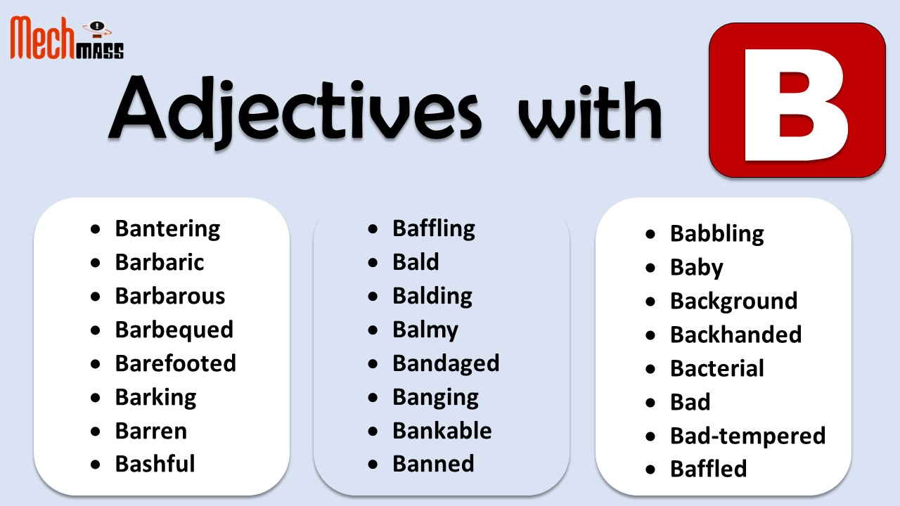 adjectives starting with b