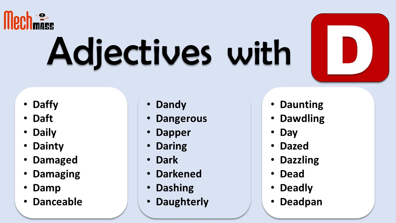 adjectives starting with d