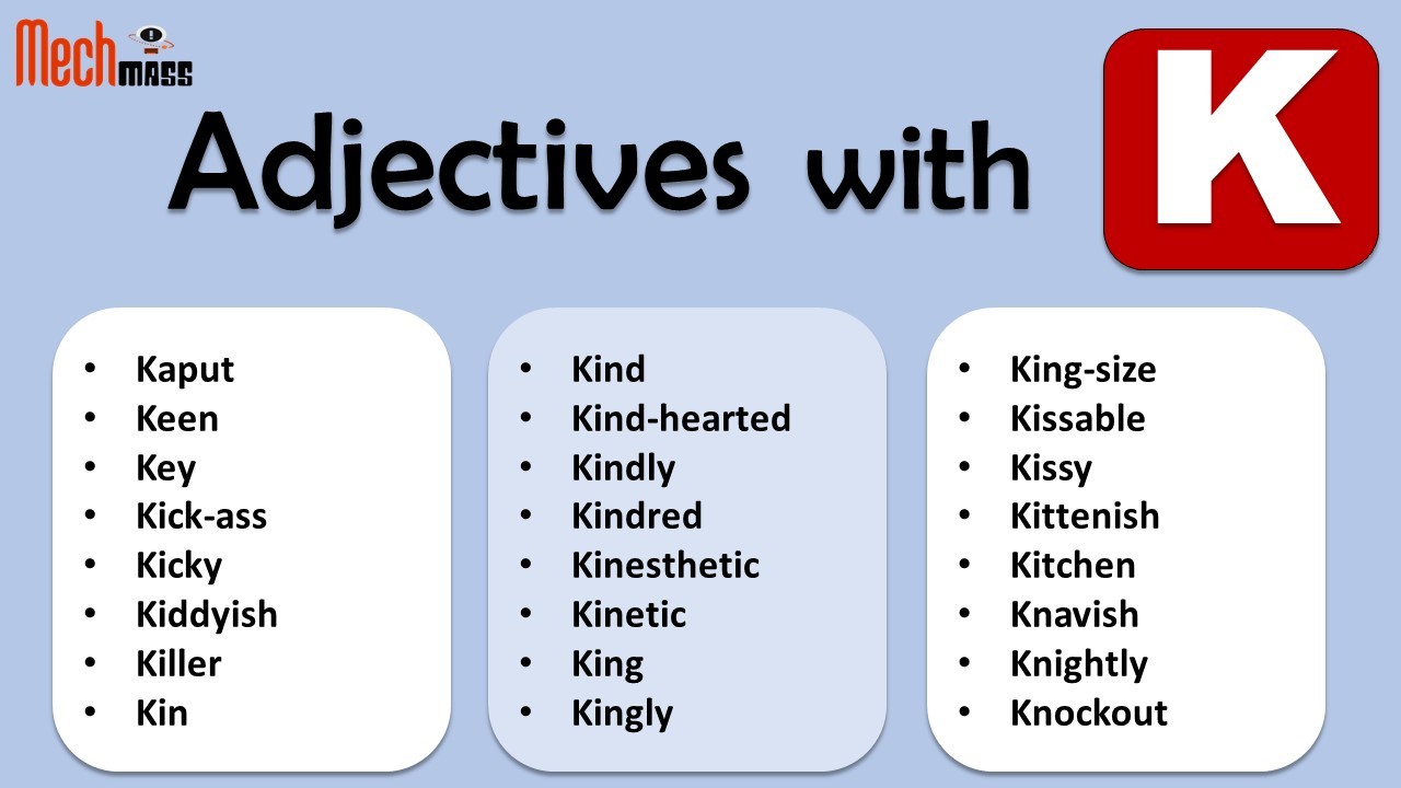 adjectives starting with k