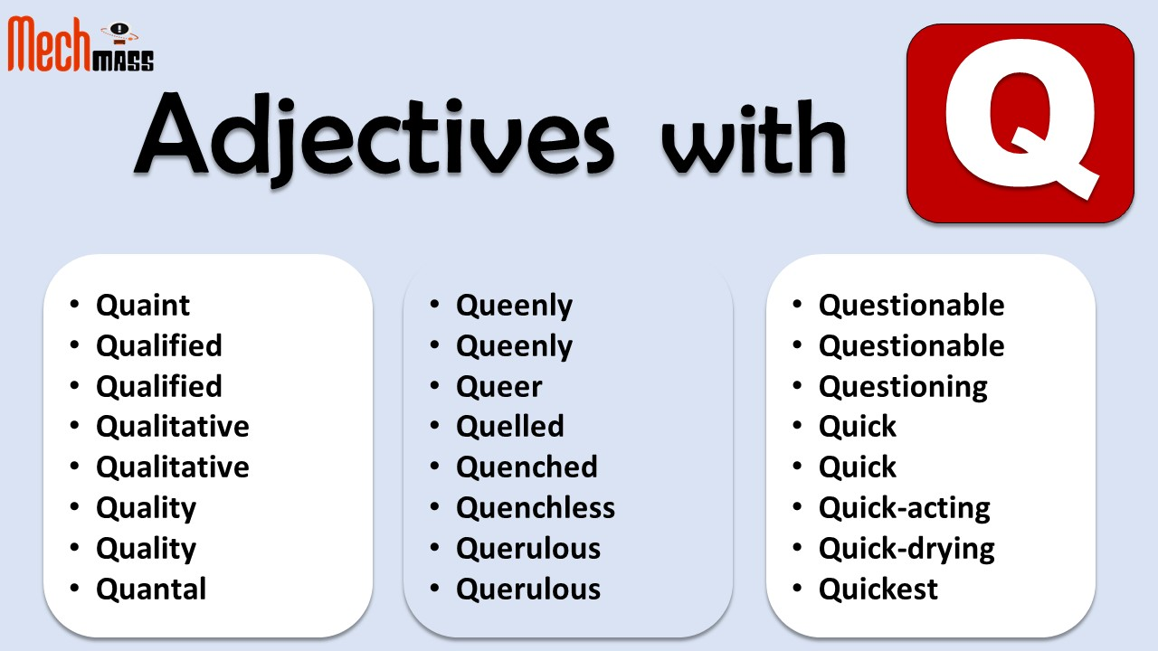 adjectives starting with q