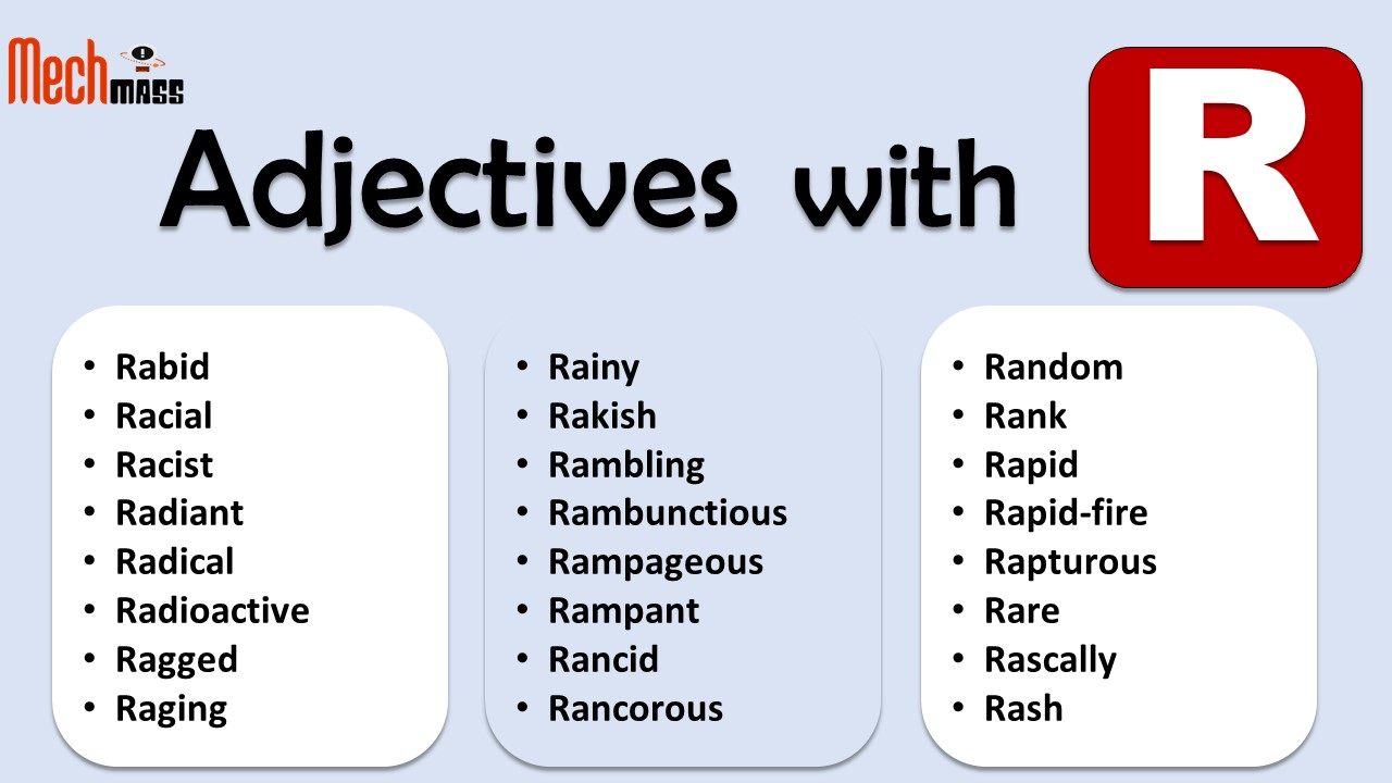 adjectives starting with r