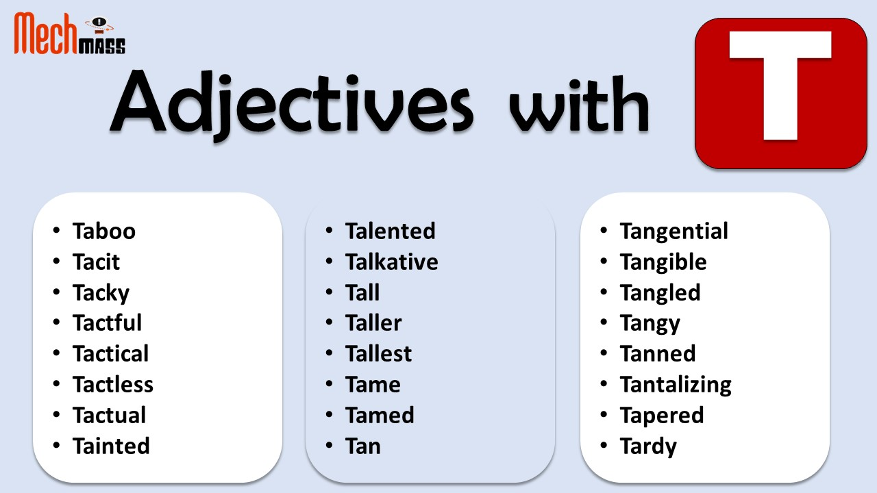 adjectives starting with t