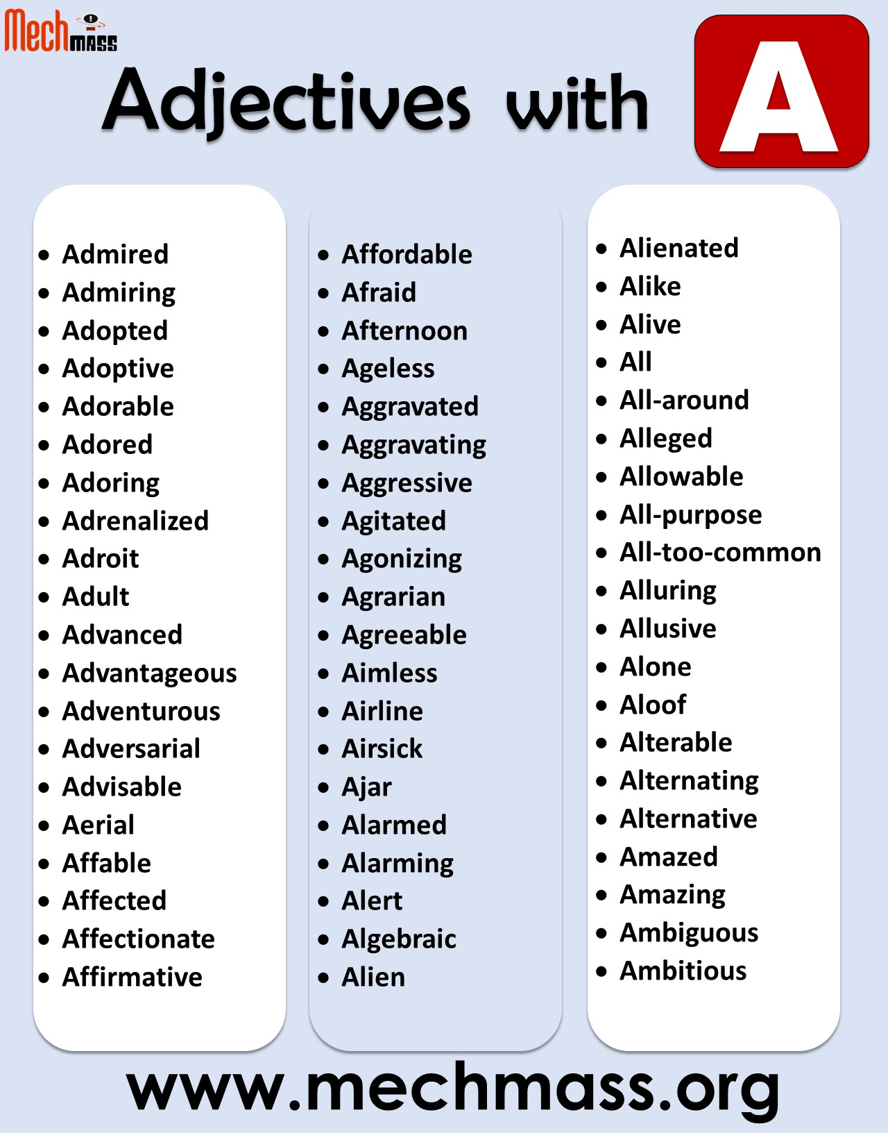 adjectives that start with a to describe a person positively