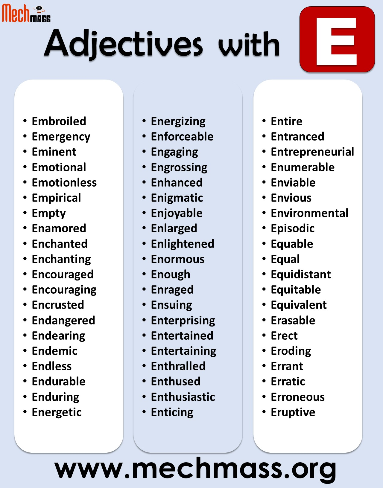 adjectives that start with e to describe a person positively