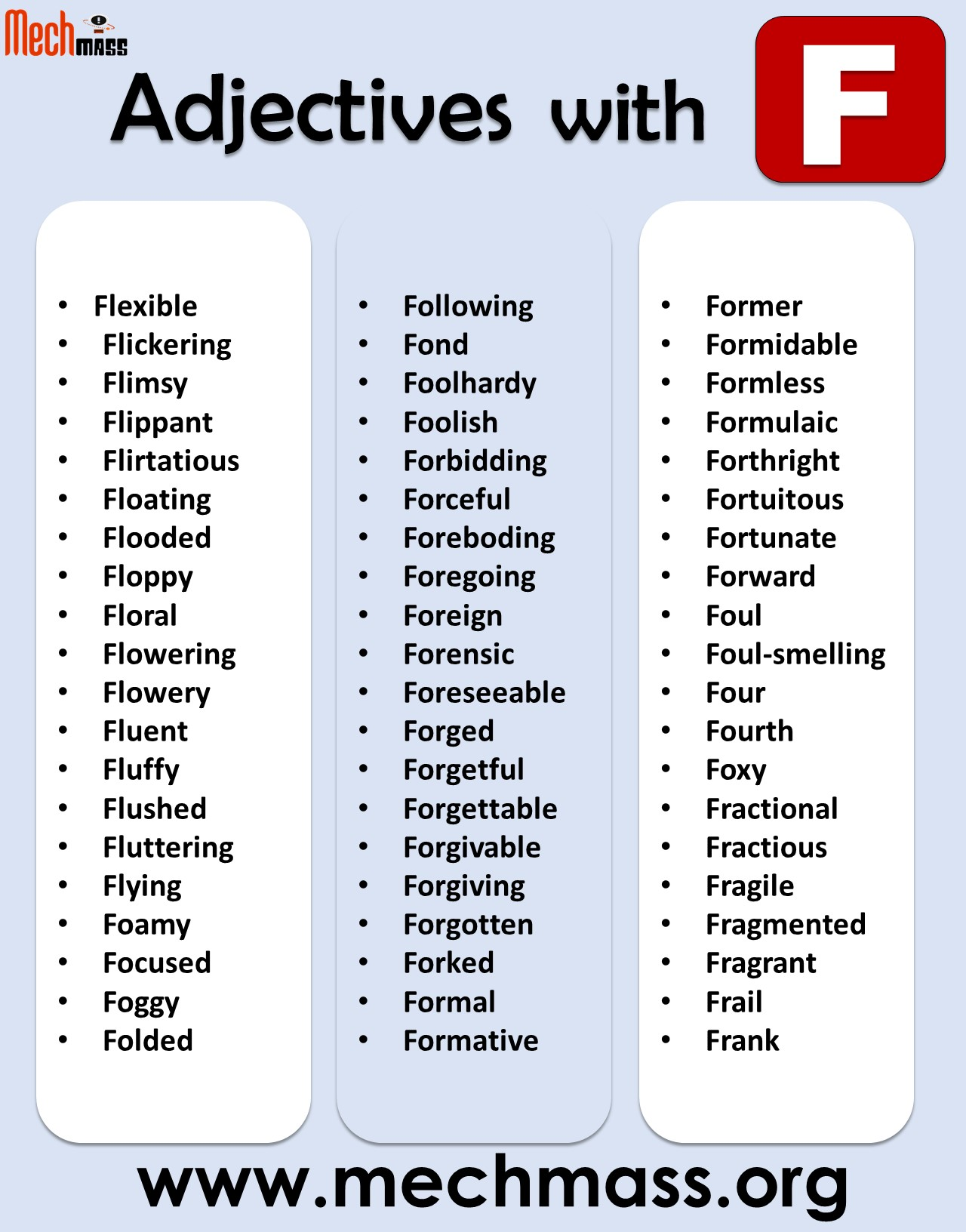adjectives that start with f to describe a person positively