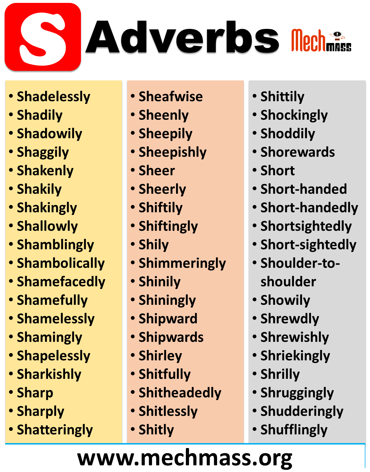 adverbs that start with sci