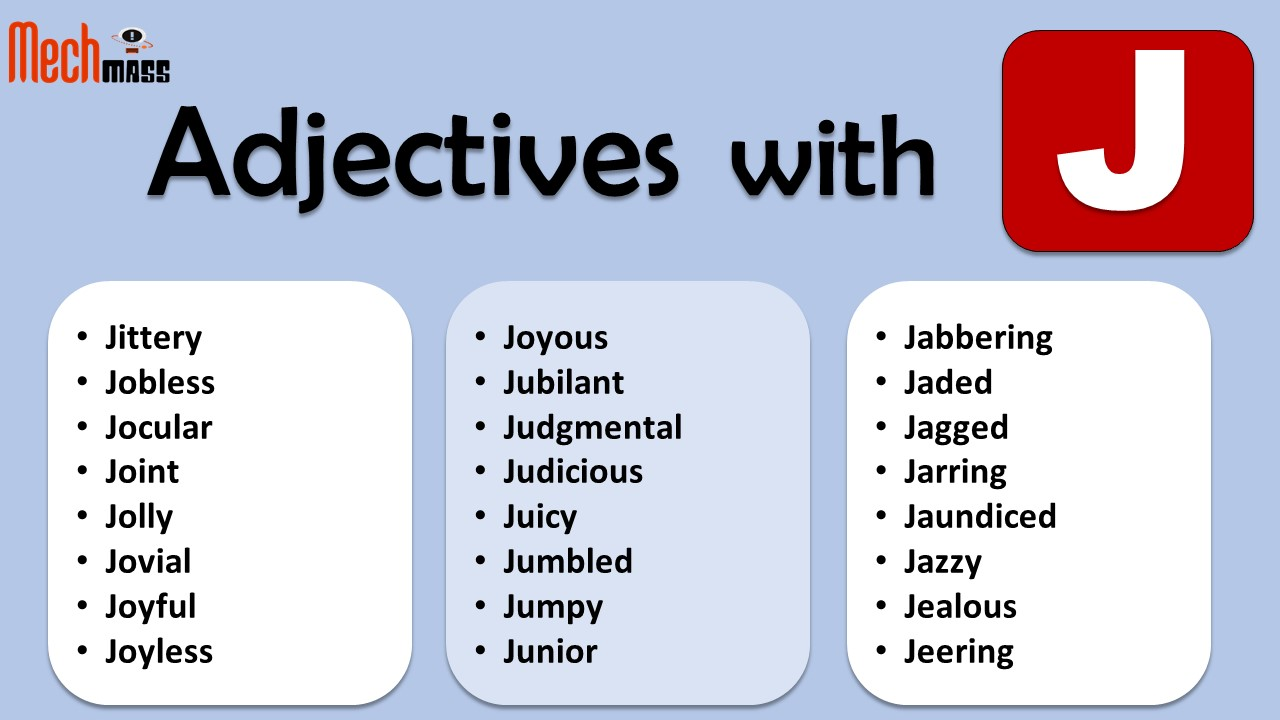 positive adjectives starting with j