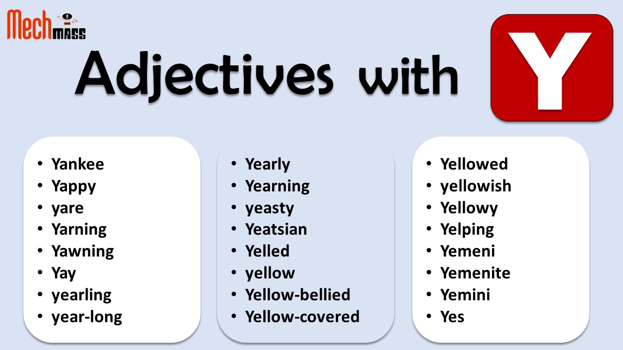 Adjectives starting with Y