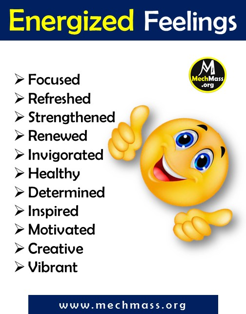 list of emotions and feeling words for energized, a to z feeling words list pdf