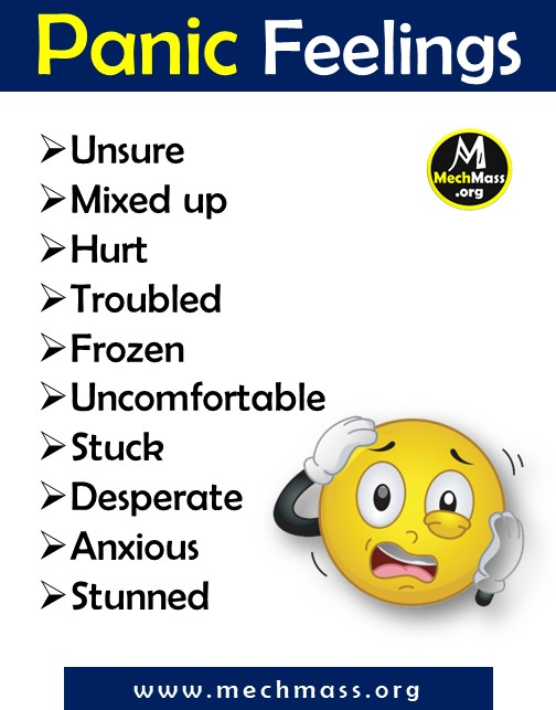 list of emotions and feeling words for panic, a to z feeling words list pdf