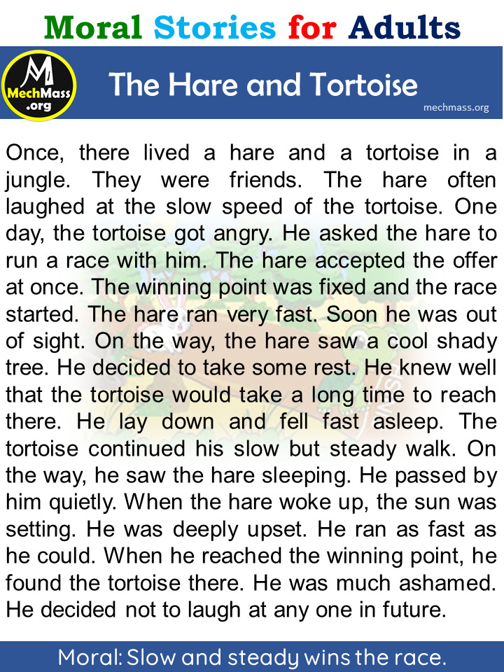hare and tortoise story