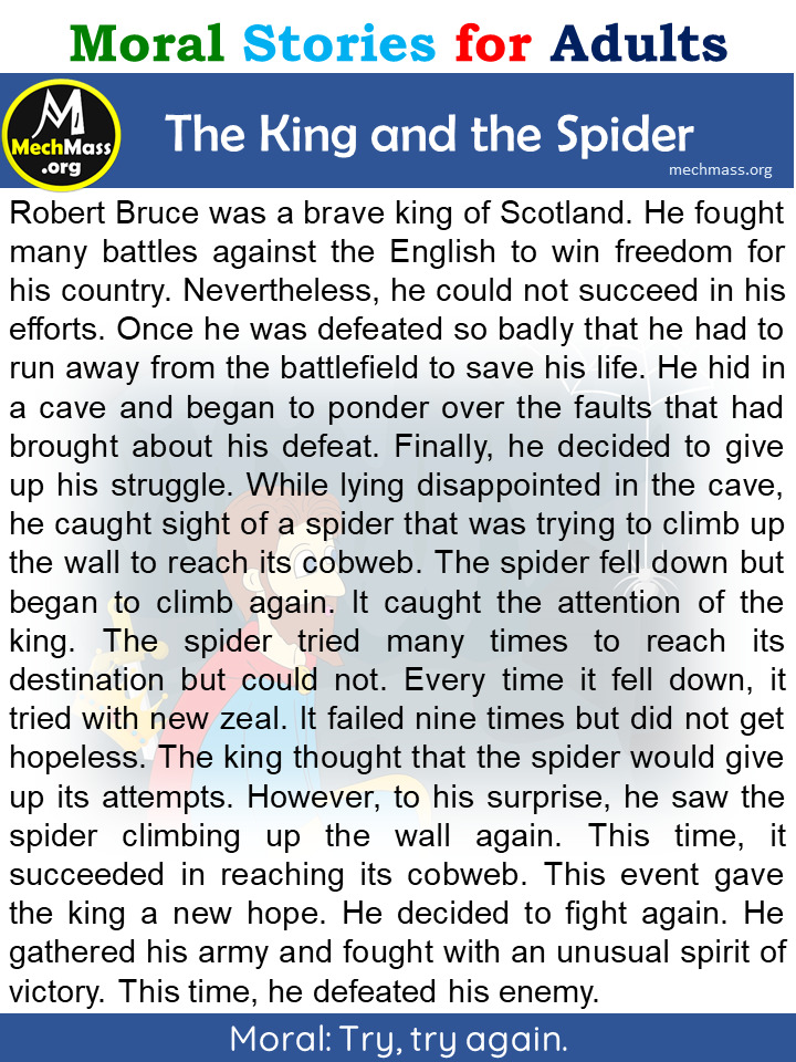 the king and the spider story