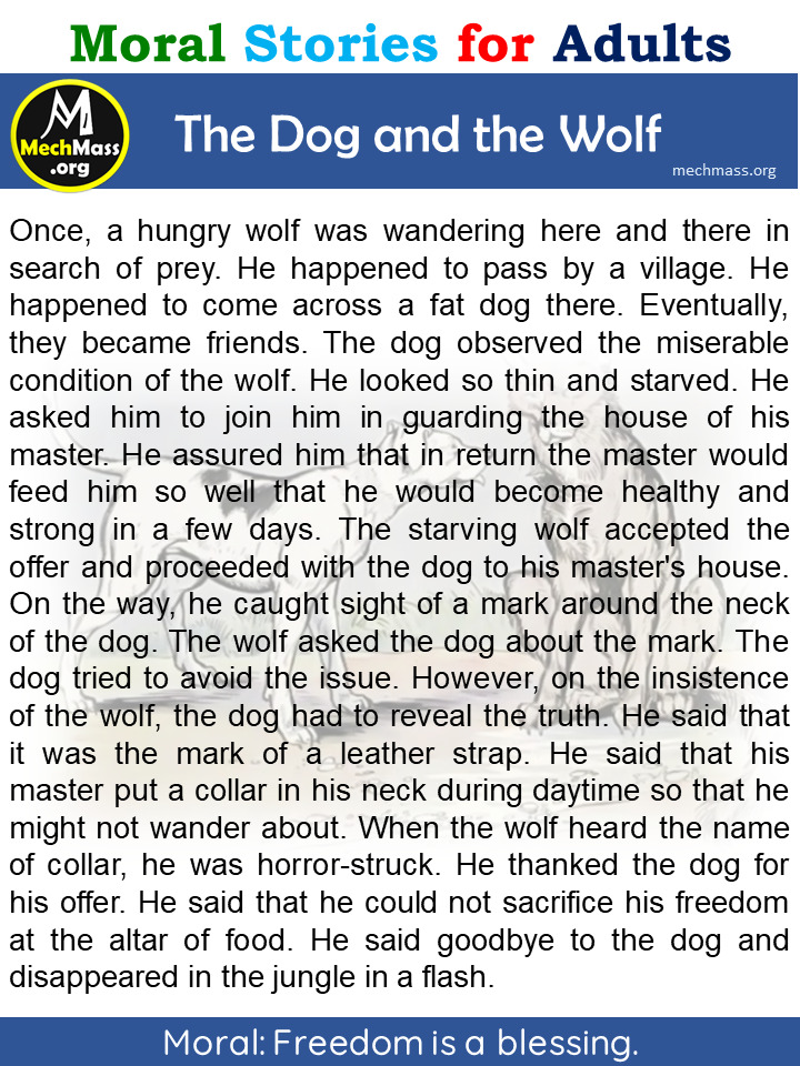 dog and the wolf story