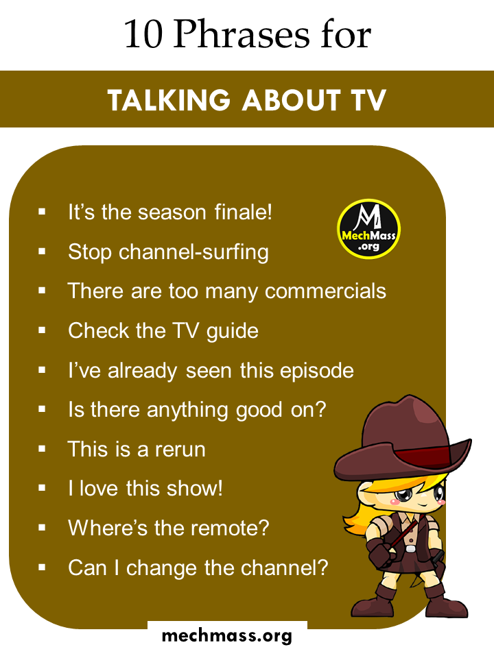 phrases for talking about tv