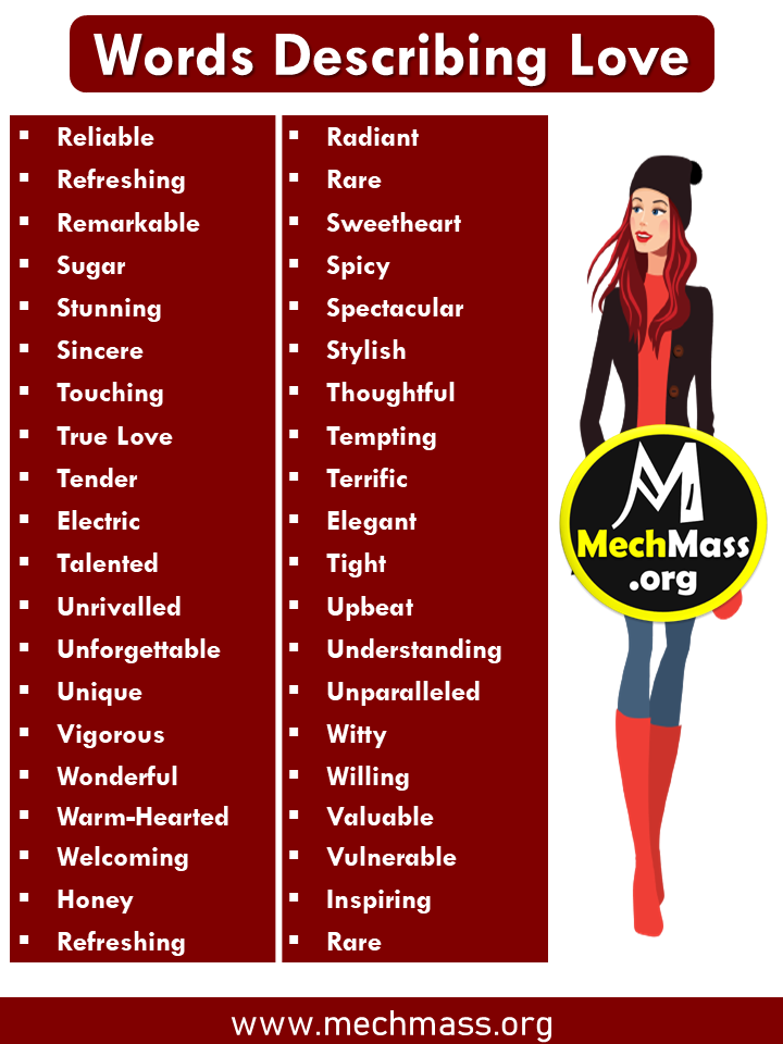 list of Words to Describe Someone Special