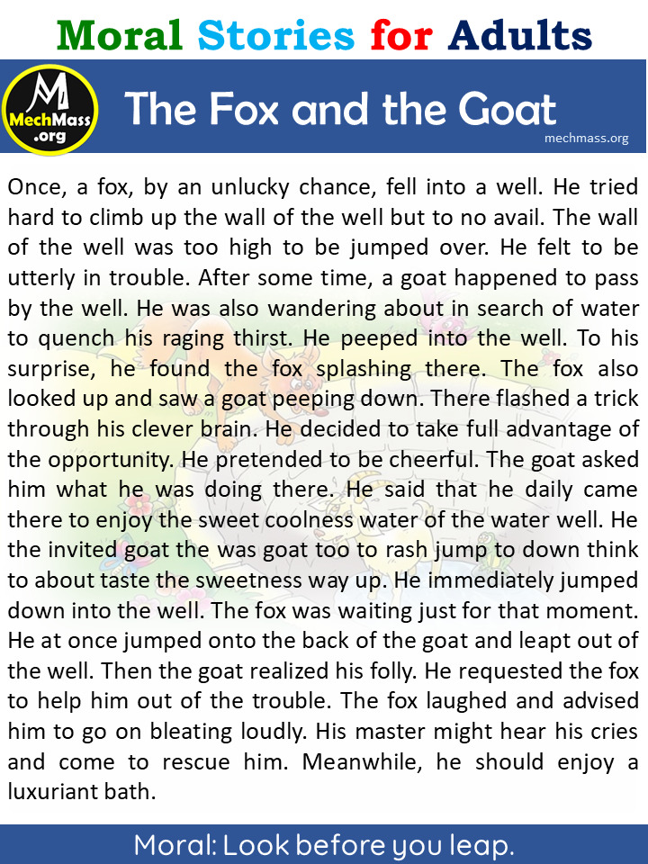 fox and the goat story