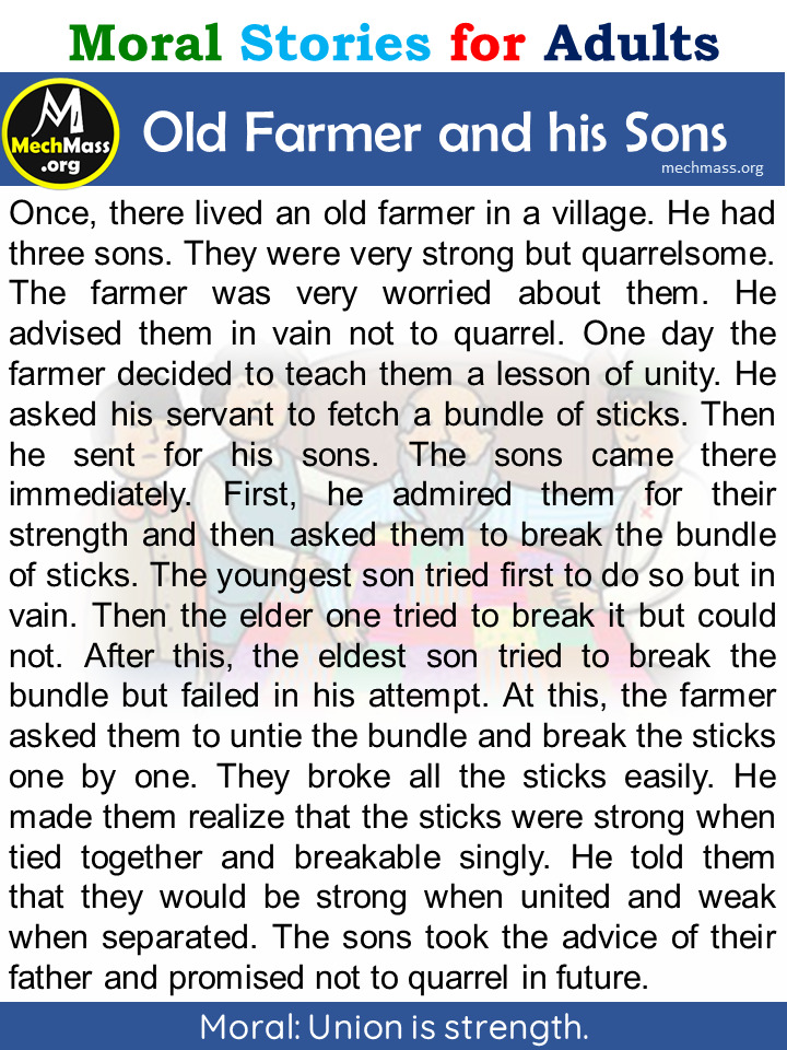 farmer and his sons story